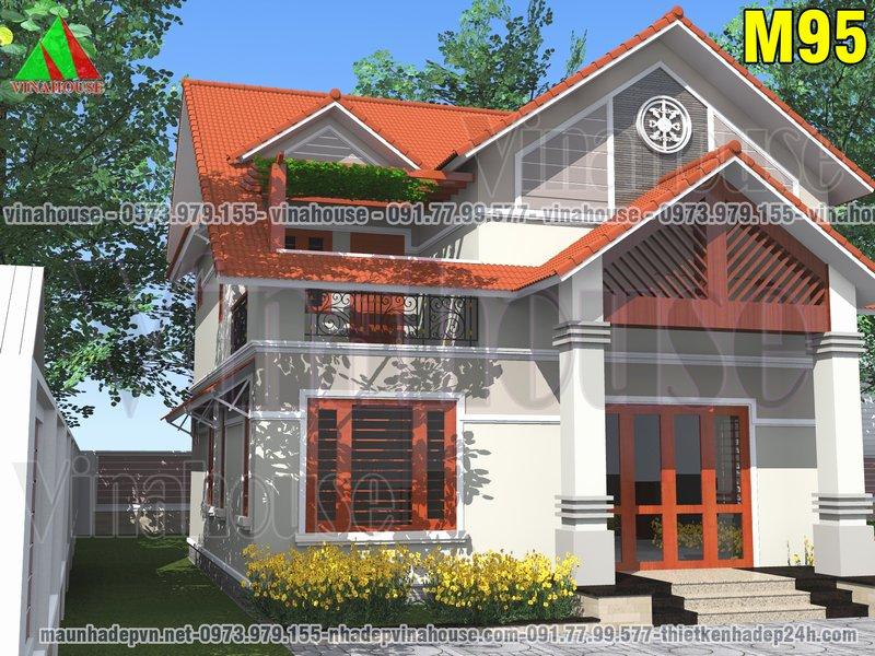 Nhà gác lửng hình vuông mái thái
