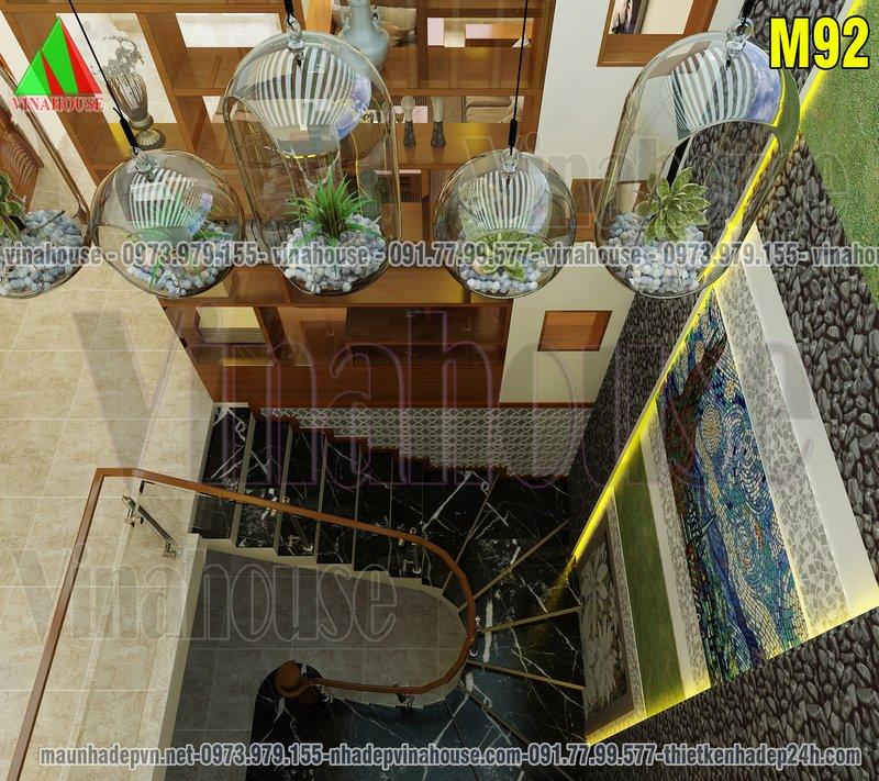 Cầu thang ốp gạch trang trí