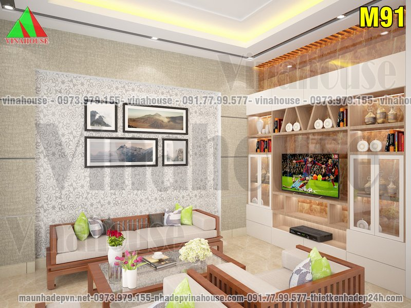 Phòng khách hiện đại nhỏ đẹp