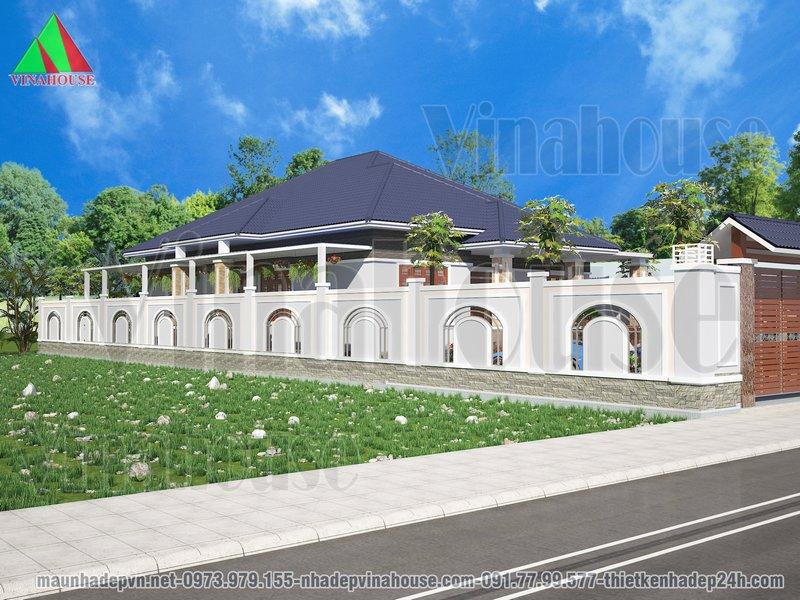Một mẫu biệt thự đẹp ở thị trấn Phú Túc, huyện Krongpa, Gia Lai