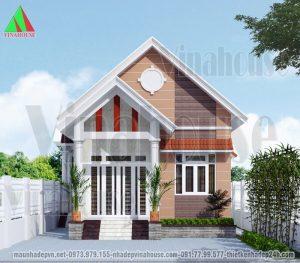 Thêm một mẫu nhà cấp 4 đẹp diện tích 100m2 dành cho các gia đình ở nông thôn tham khảo xây dựng. Nhà cấp 4 đẹp được thiết kế hình khối ngoại thất đẹp và cân đối, bên trong bố trí hiện đại có 2 phòng ngủ với chi phí đầu tư của gia đình ở mức 500-600 triệu.