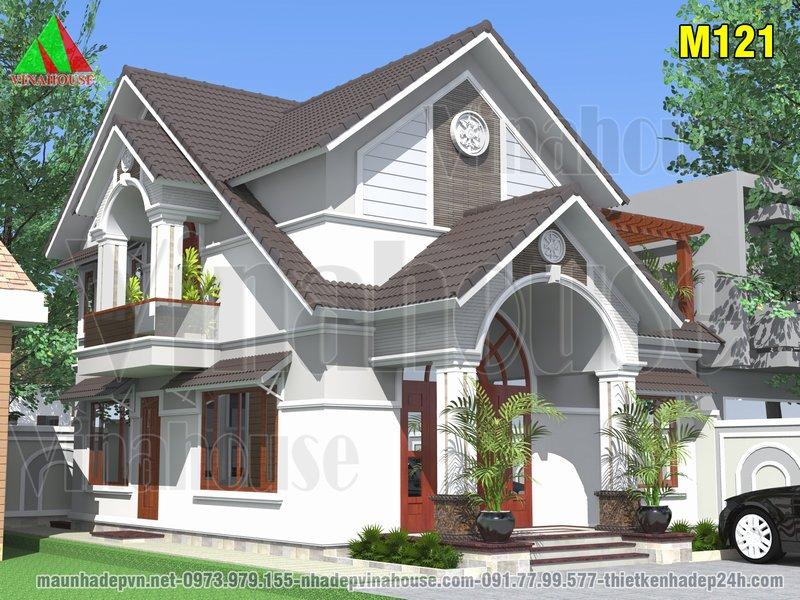 Nhà cấp 4 có gác lửng mái thái 9x10 ở Hà Nội