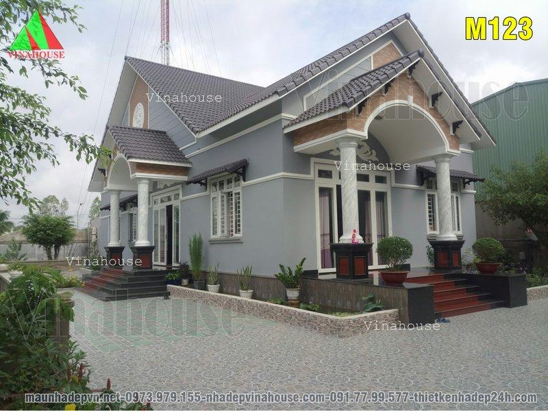 Hình ảnh thực tế nhà cấp 4 đẹp 3 phòng ngủ mái thái ở Đồng Nai