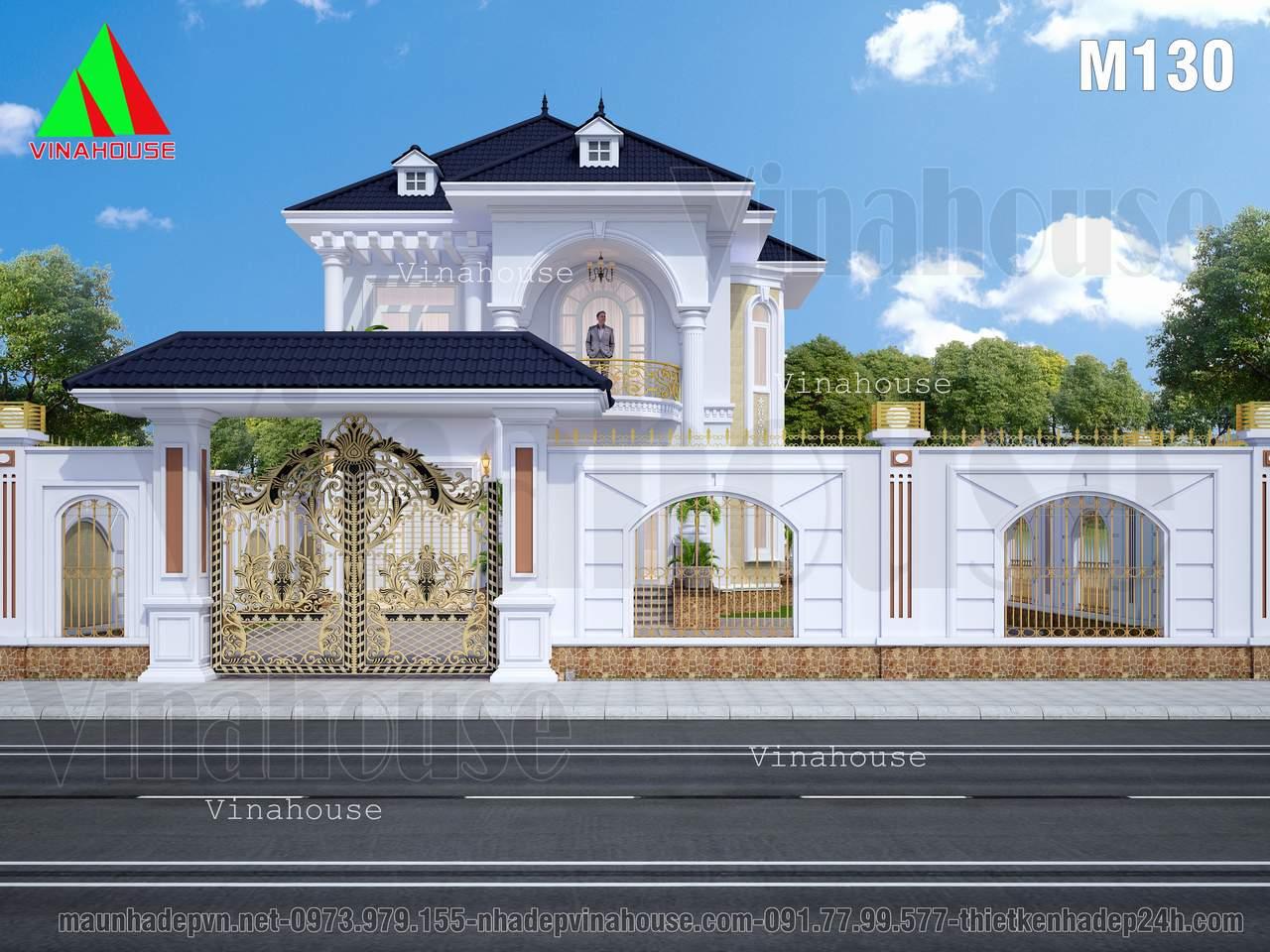 Hàng rào cổng chinh biệt thự đẹp