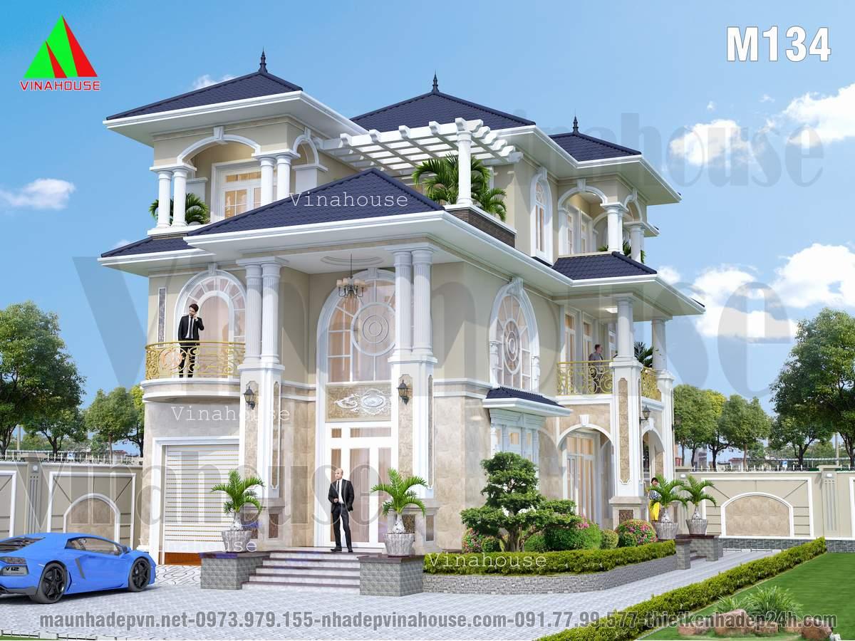 Biệt thự 3 tầng đẹp ở Cam Ranh