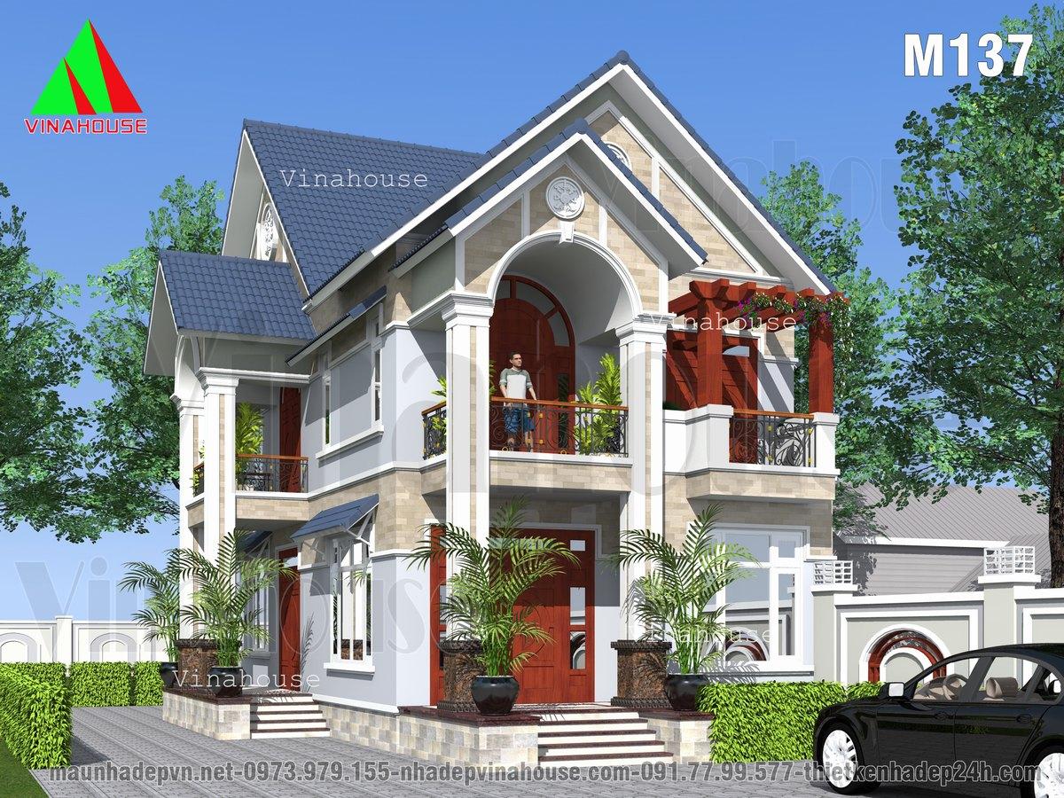 Phối cảnh 3D Biệt thự 2 tầng đẹp