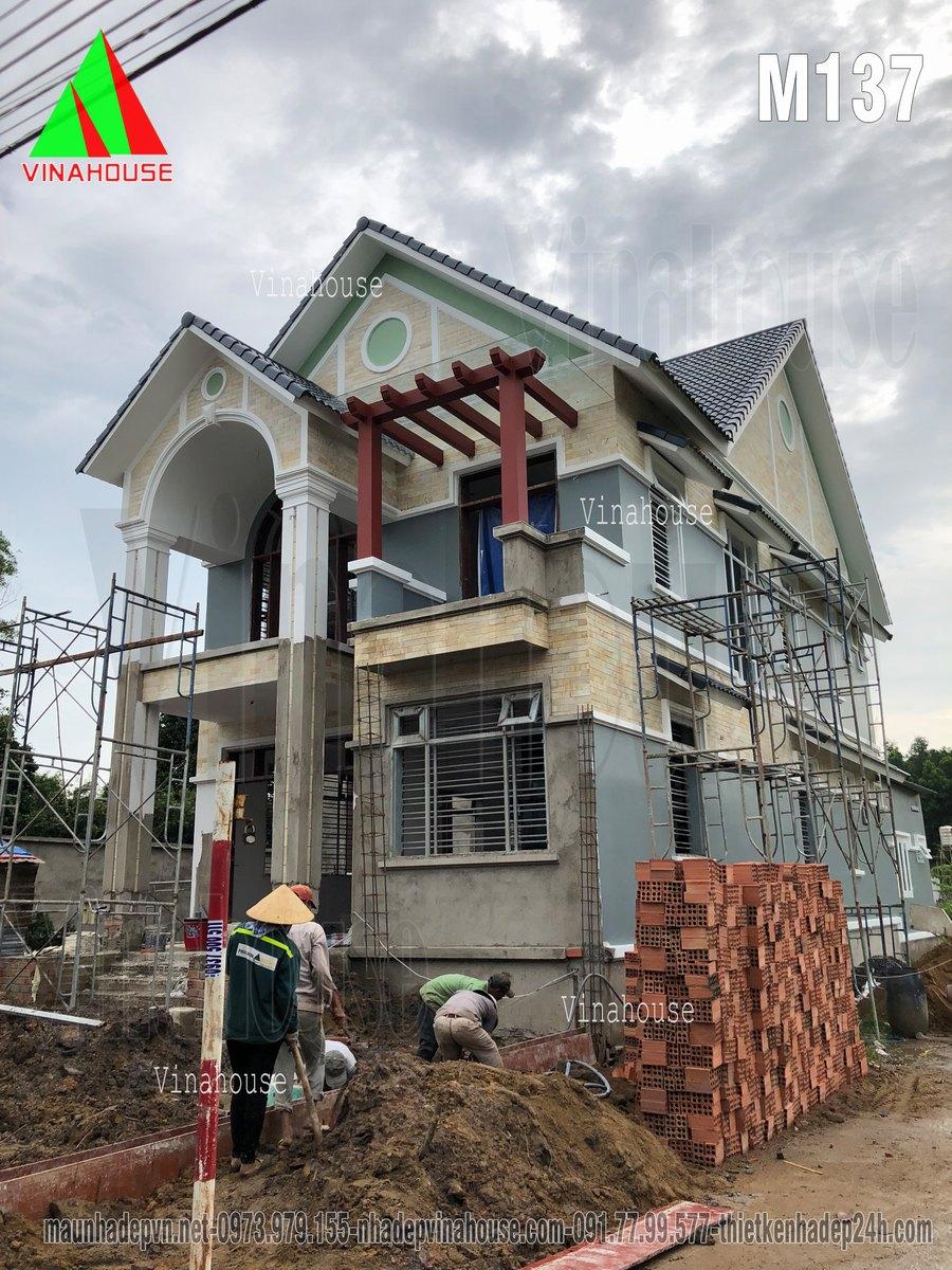 Tham khảo thêm Biệt thự 2 tầng mái thái của anh Xuân ở Đồng Nai