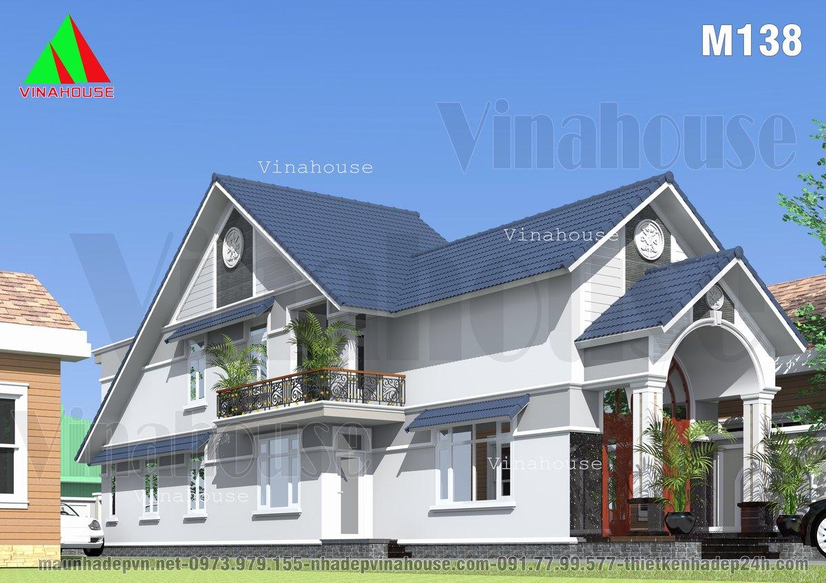 Nhà cấp 4 có gác lửng 5 phòng ngủ mái thái 6x23 ở Đồng Nai