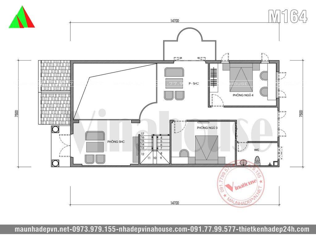 Biệt thự đẹp mái thái với phòng khách thông tầng là xu hướng xây nhà đang rất HOT hiện nay. Biệt thự 2 tầng đẹp mái thái 7,5×15 vừa được thiết kế cho gia đình chị Vân trên khu đất 2 mặt tiền 10×35 ở Trảng Bom tỉnh Đồng Nai. Bên trong nhà đẹp có 4 phòng ngủ, thiết kế sang trọng, đặc biệt là phòng khách thông tầng. Đây là dạng biệt thự đã được xây dựng nhiều trong năm vừa qua mời các gia đình tham khảo.