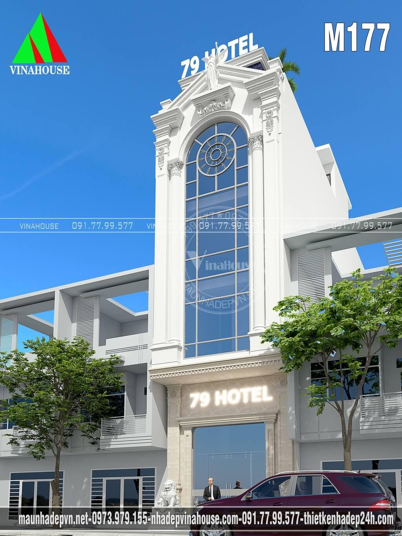 Mẫu nhà nghỉ đẹp 5 tầng 5x20