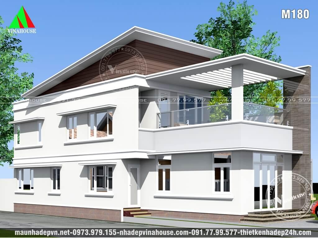 Nhà lửng 2 mặt tiền hiện đại đẹp ở Bình Thuận