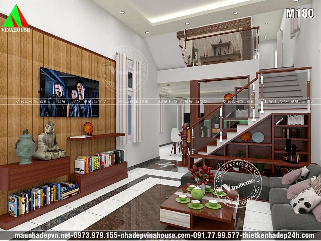 Phòng khách hiện đại nhà lửng