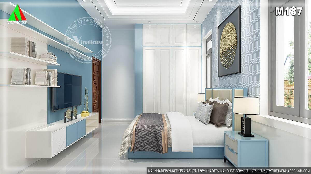 Phòng ngủ con trai màu xanh