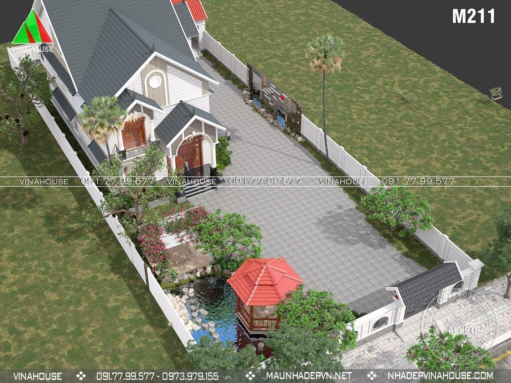 Biệt thự vườn 2 tầng trên khu đất 20×50