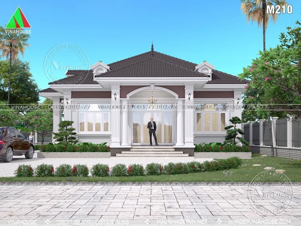 Biệt thự 1 tầng mái nhật tân cổ điển đẹp ở Tây Ninh M210