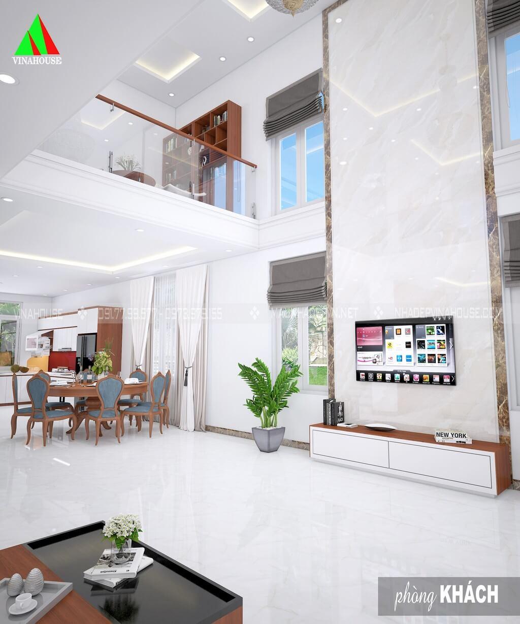 Phòng khách thông với phòng bếp ăn