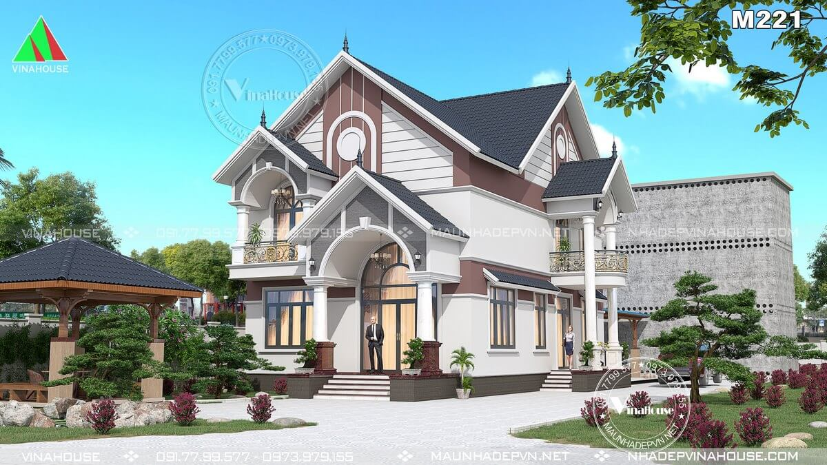 Biệt thự 2 tầng đẹp mái thái 9x14 ở Kiên Giang