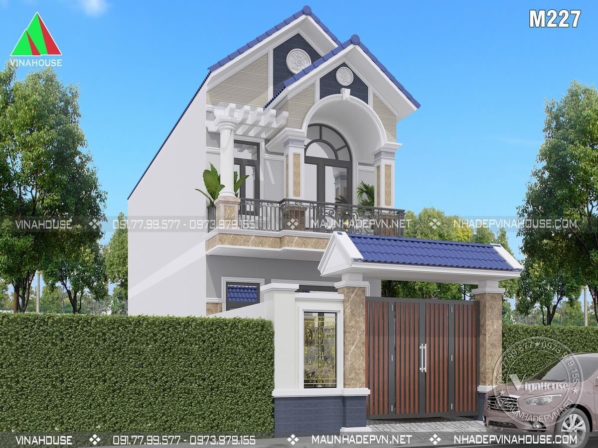 Phối cảnh 3D nhà phố 2 tầng mái thái