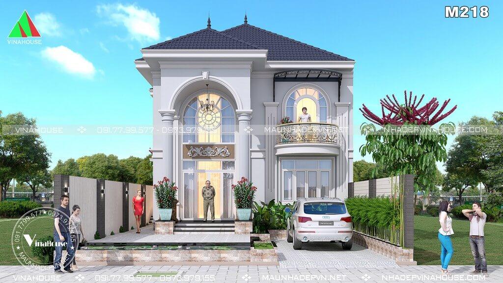 Mẫu nhà biệt thự 2 tầng đẹp M218