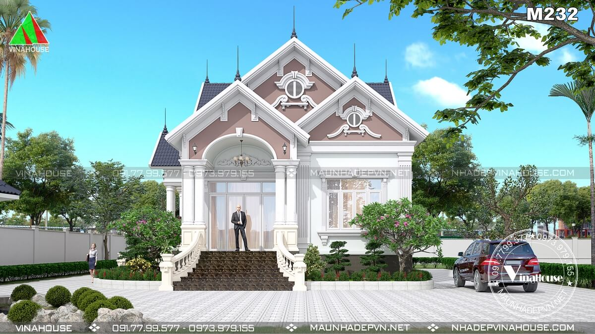 Phối cảnh 3D biệt thự vườn M232