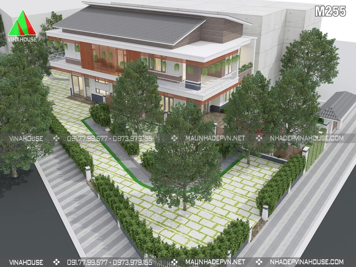 Mẫu biệt thự vườn 2 tầng hiện đại M255