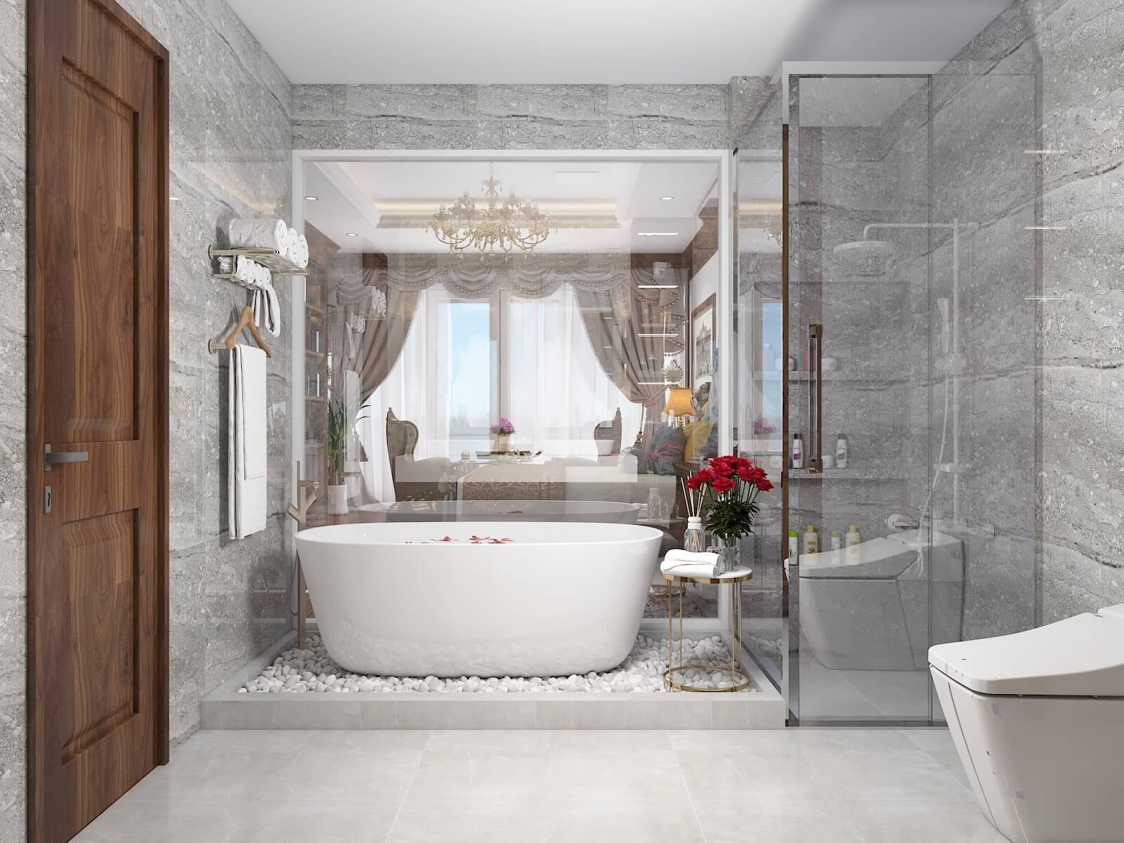 Phòng vệ sinh hiện đại đẹp
