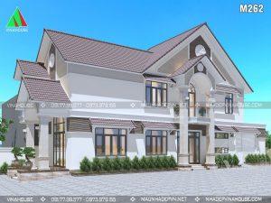 Thiết kế biệt thự 2 tầng đẹp hiện đại