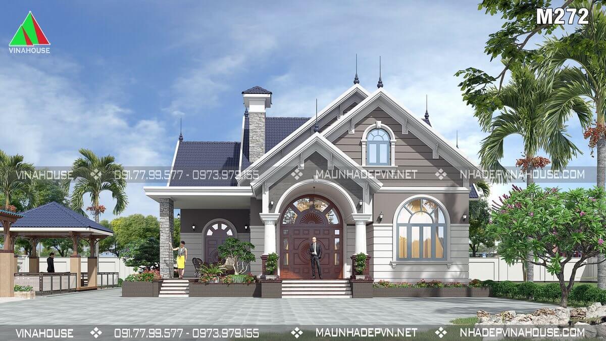 Thiết kế nhà vườn 1 tầng 4 phòng ngủ ở Vĩnh Long M272