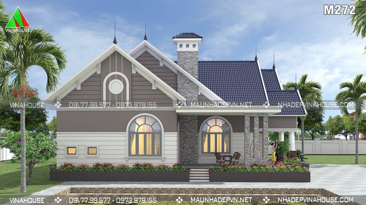 Thiết kế nhà 1 tầng tân cổ điển