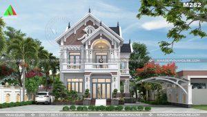 Thiết kế biệt thự 2 tầng tân cổ điển sang trọng