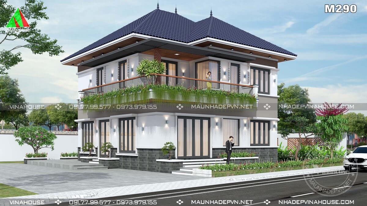 Thiết kế nhà 2 tầng hiện đại đẹp nhất 2021